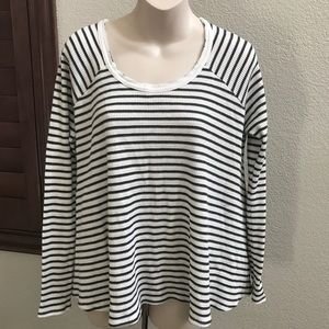 New Free People We the Free Striped Thermal Shirt